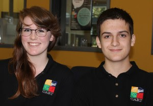 Haley Vertson, 17, left, and Jordan Jensen, 18, are seniors at the Center for Advanced Research and Technology.