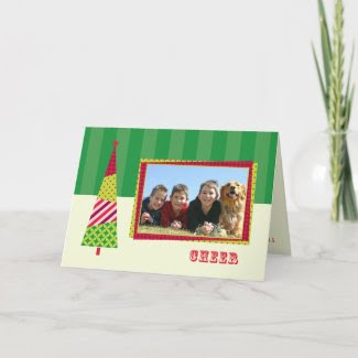 Layered Christmas Tree and Frame Photo Card card