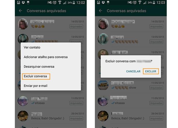 Exclua o recado na lista de arquivados pelo Android (Foto: Reprodução/Barbara Mannara)
