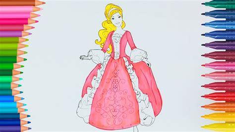 prenses barbie boyama sayfasi ile renkleri oegreniyorum