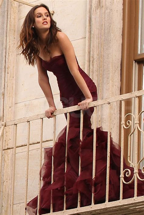 Pictures of Leighton Meester Shooting a Vera Wang Ad in
