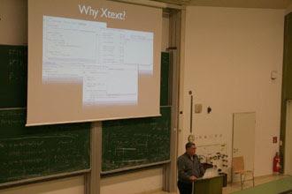 Maximilian Weißböck on Xtext (© Markus Musil)