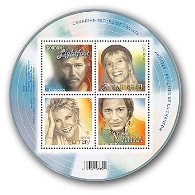 Bloc-feuillet 4 timbres