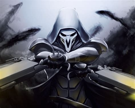 wallpaper reaper overwatch artwork hd games
