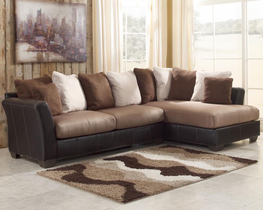 Masoli Mocha Sectional Sofa Set Signature Design By Ashley Furniture