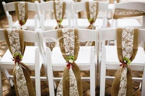 burlap chair sashes     Rustic Wedding Decor Hire