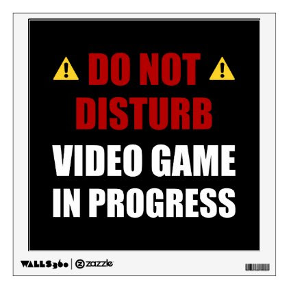 Do Not Disturb Video Game Wall Decal