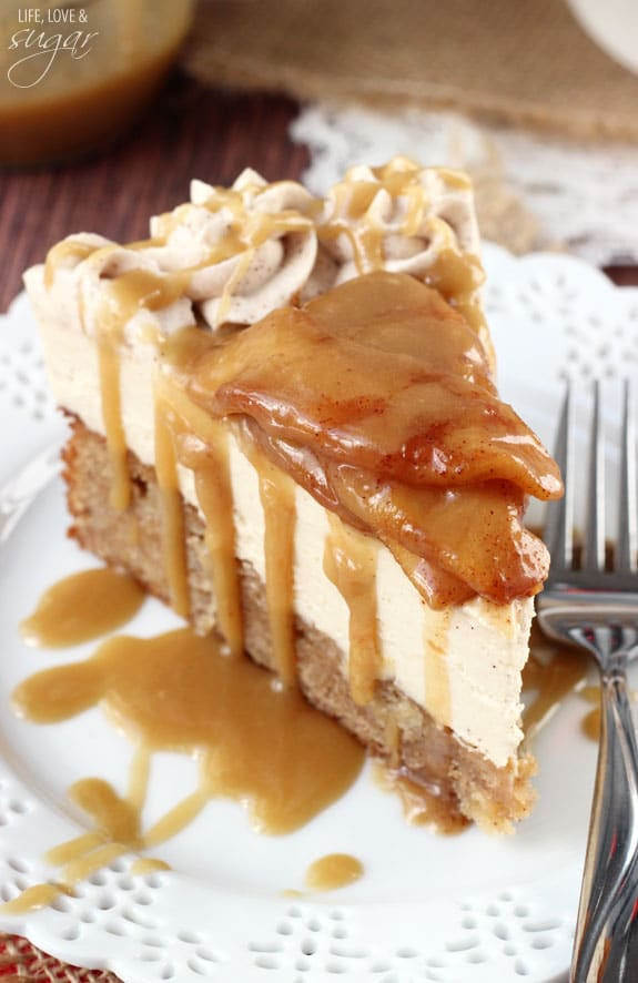 Caramel Apple Blondie Cheesecake | Life, Love & Sugar