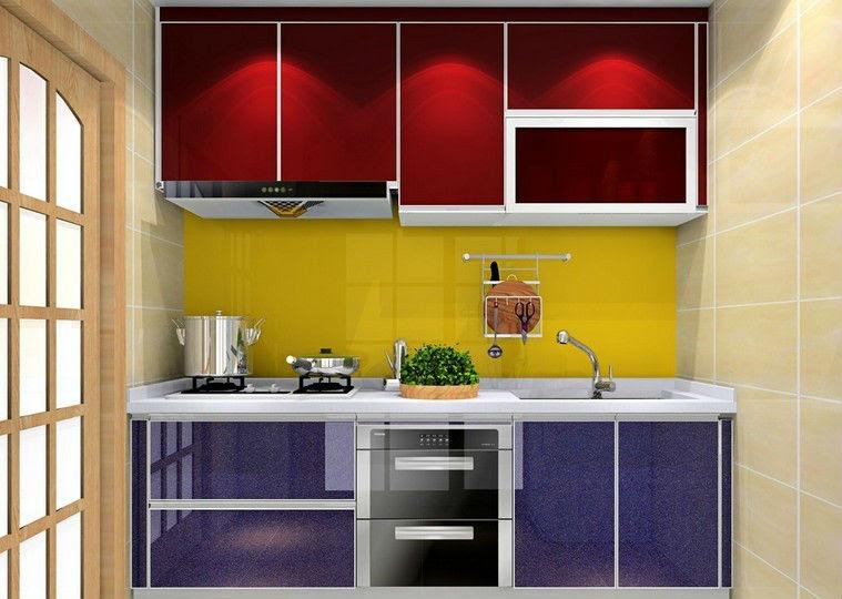 Aluminium dapur kabinet dengan dapur kabinet atas meja dan