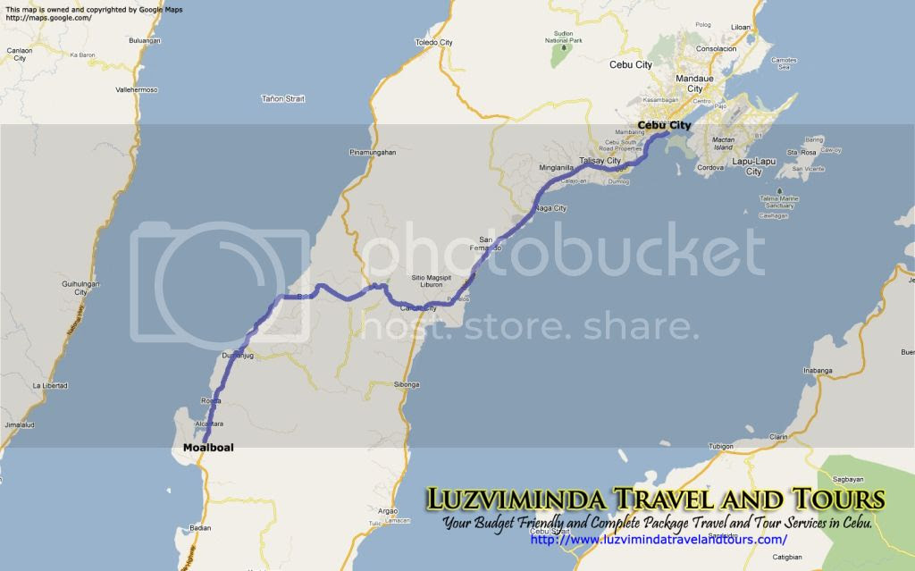 Cebu City + Moalboal in Cebu Tour Itinerary Package Route