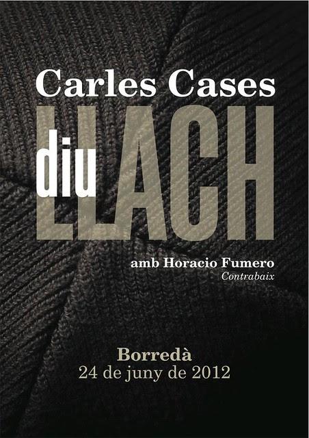 El pianista Carles Cases diu Lluís Llach
