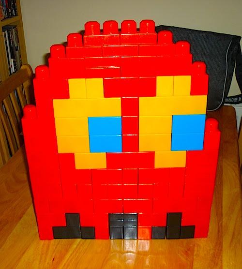 Pac-Man Ghost in Megabloks