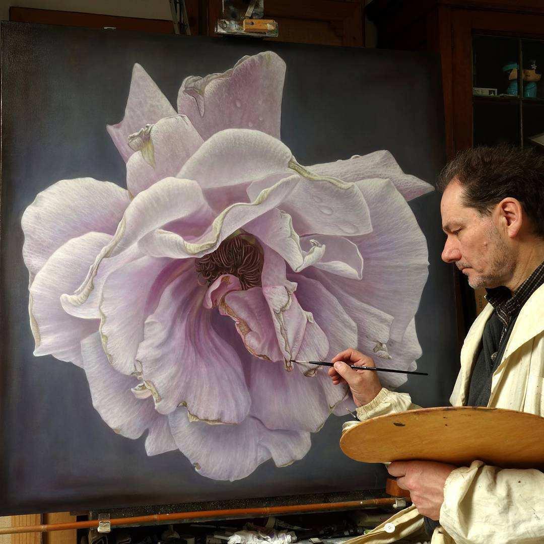 Gambar Lukisan Bunga Sangat Indah Jual Poster Di Juragan Poster