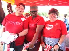 ONE/(RED) volunteers Rachel, Carnie and Sammi