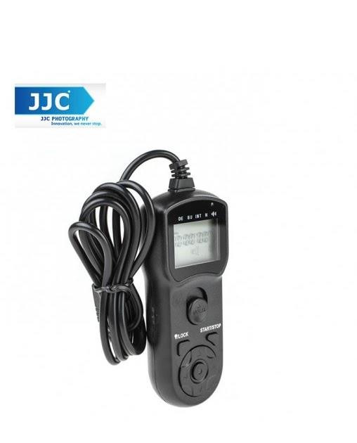 Black JJC TMC LCD Timer Remote Control for Canon EOS 60D 1000D 700D 650D 600D 550D 500D 450D Rebel Series