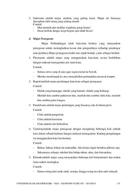 Contoh Majas Diksi - Fontoh