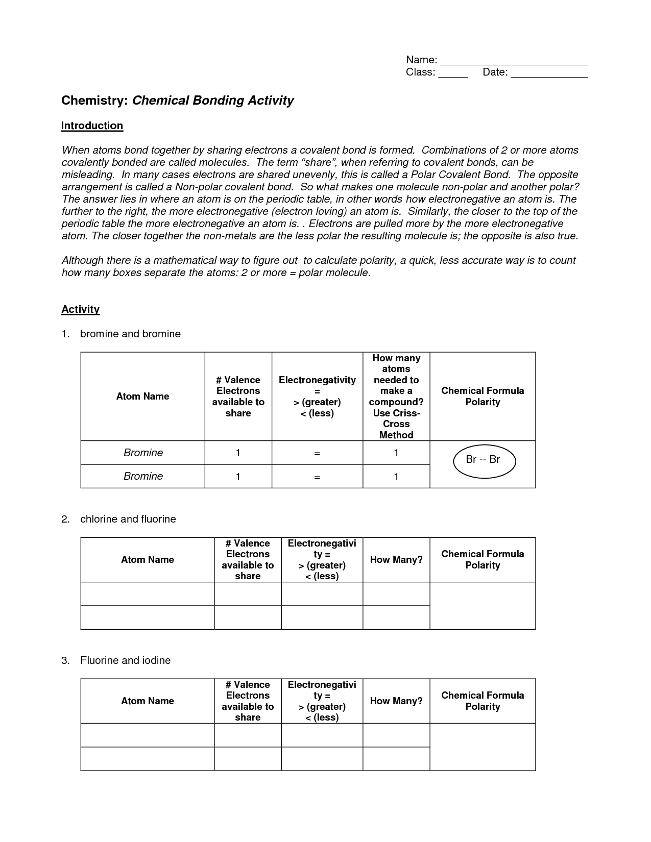 11 Best Images of Bonding Basics Ionic Bonds Worksheet Answers  Ionic and Covalent Bonding