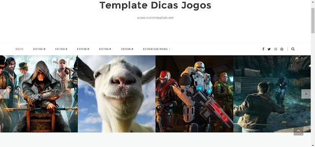 Template Para Blogger dicas games jogos