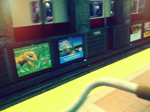 Bike on the T: Train Platform