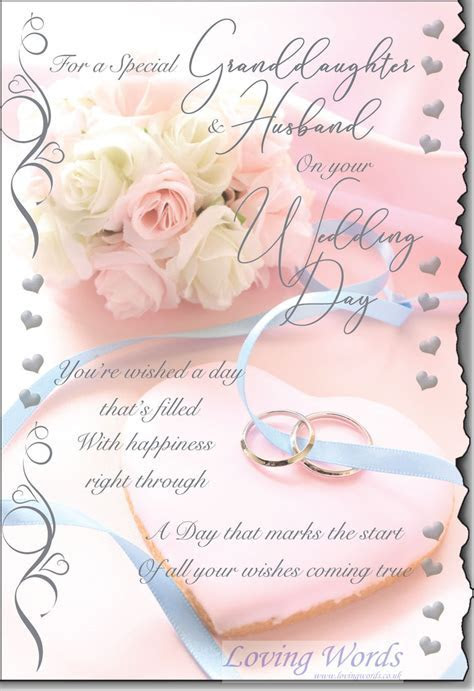 Wedding Granddaughter & Husbandband   Greeting Cards by