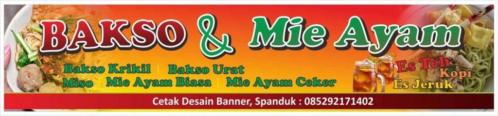Gambar Spanduk Bakso Mie Ayam - gambar contoh banners