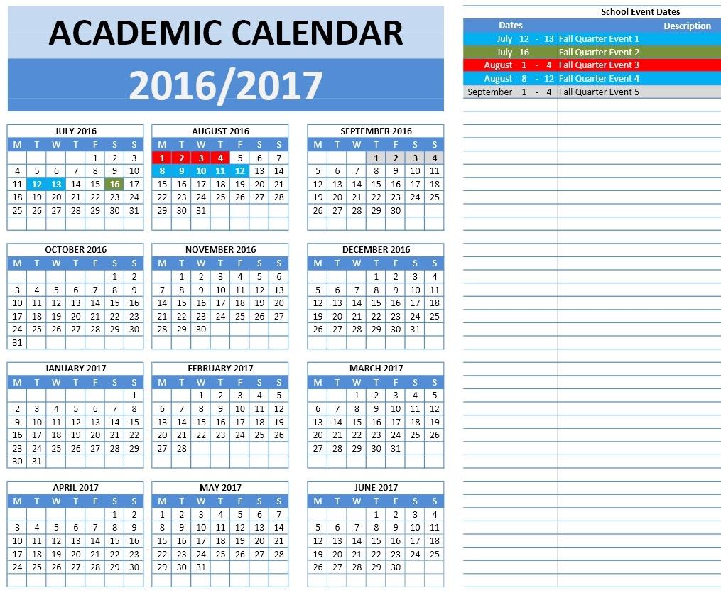 2016 2017 School Calendar OT 4