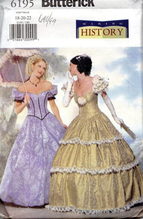 butterick  misses southern belle costume pattern