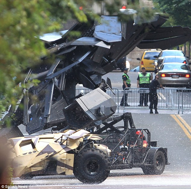 Another mishap: The Batwing crashed today in Pittsburgh, Pennsylvania on the set of The Dark Knight Rises