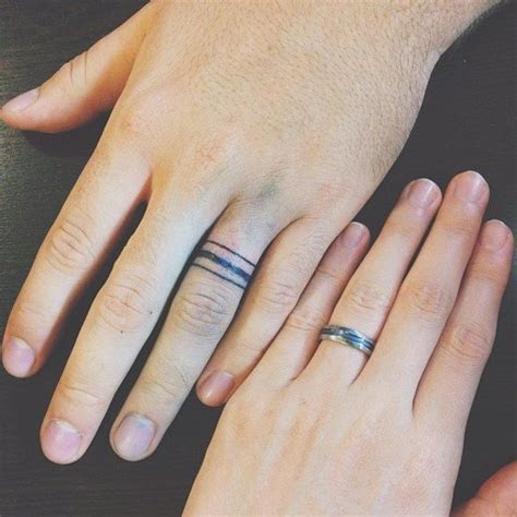 50 Cool Wedding Ring Tattoos To Express Their Undying Love