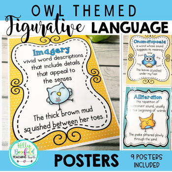 Owl Themed Figurative Language Posters