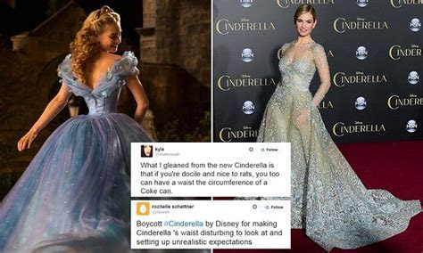 Cinderella filmgoers hit out over Lily James's tiny waist
