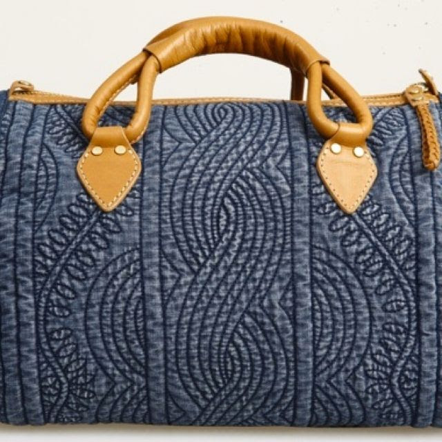 Denim Quilted Bag - OOH - Love this!!! The quilting is fabulous.