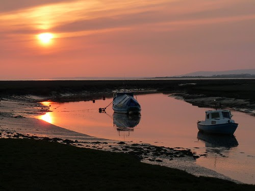 12283 - Sunset at Penclawdd, Gower
