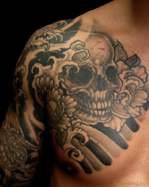 99 Top Class Skull Tattoos On Chest
