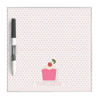 Cupcakes & Polka Dots Dry Erase Whiteboards