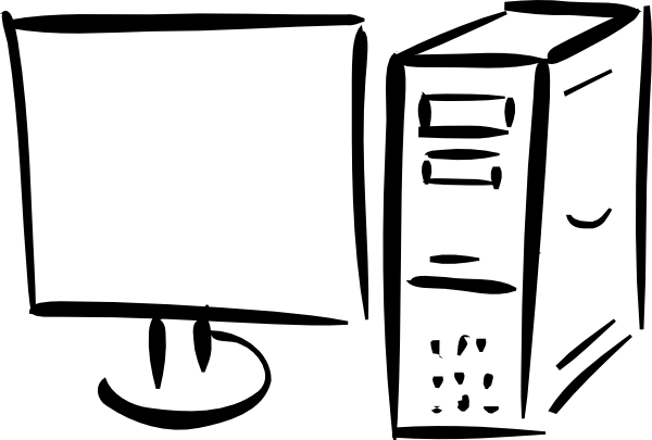 Monitor And Computer Clip Art