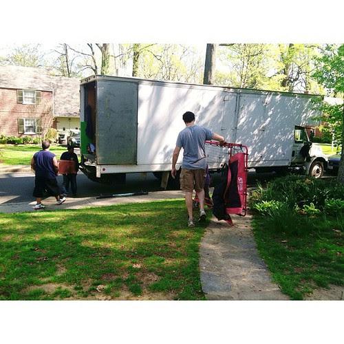 Eli helping daddy... #movingday