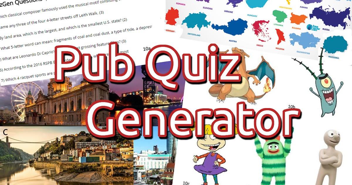 Random Pub Quiz Name Generator | Pubg Text Generator