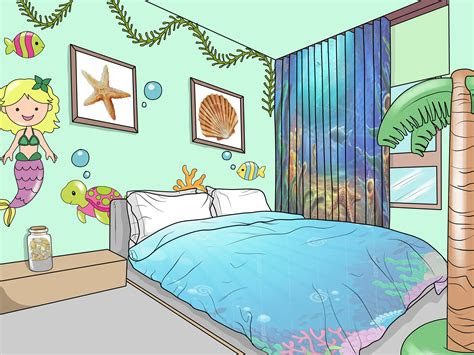 give  bedroom  ocean mermaid theme  steps