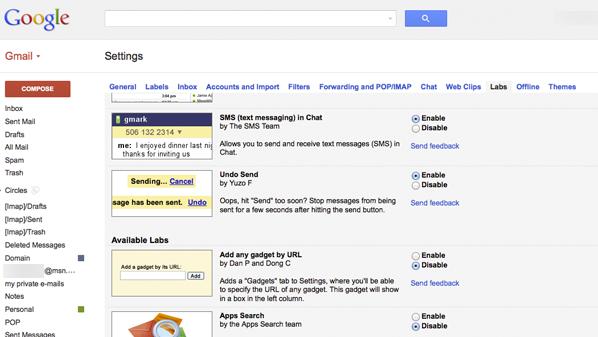 """يوفّر بريد """"جي ميل"""" عن طريق موقعه، إمكانية التراجع عن إرسال الرسالة"""