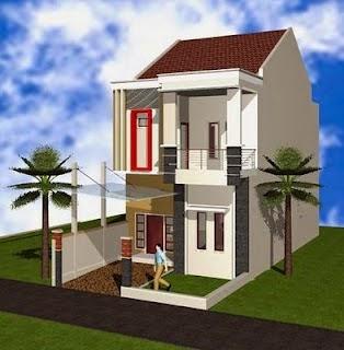 Desain Rumah 2 Lantai Type 21 Sekitar Rumah