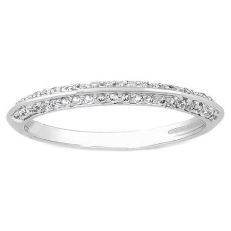 Wedding Band   Round Diamond Pavé Set Knife Edge Ladies
