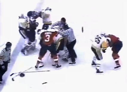 Penguins Flyers 1989 playoffs photo PensFlyersFight.png