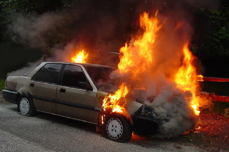 flammable refrigerant caused car fire