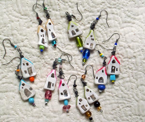 Teeny Tiny House Earrings
