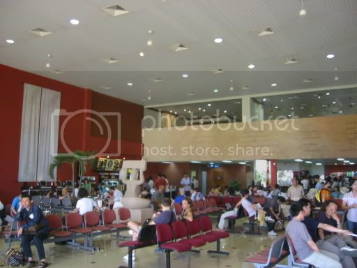 Inside the Cambodian Airport
