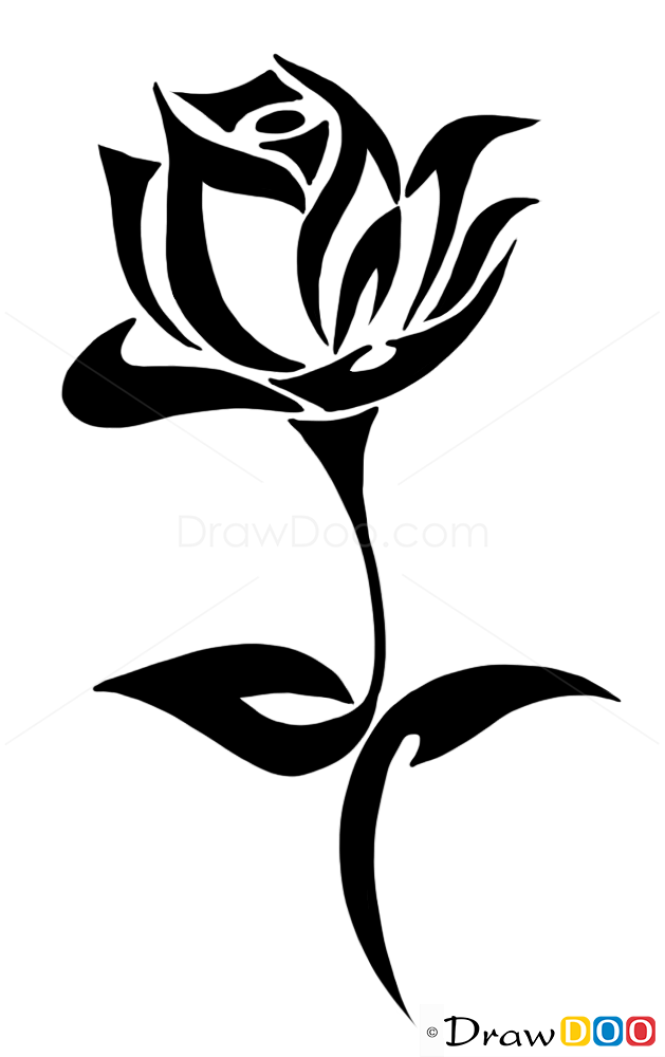 How To Draw Rose Tattoo Designs