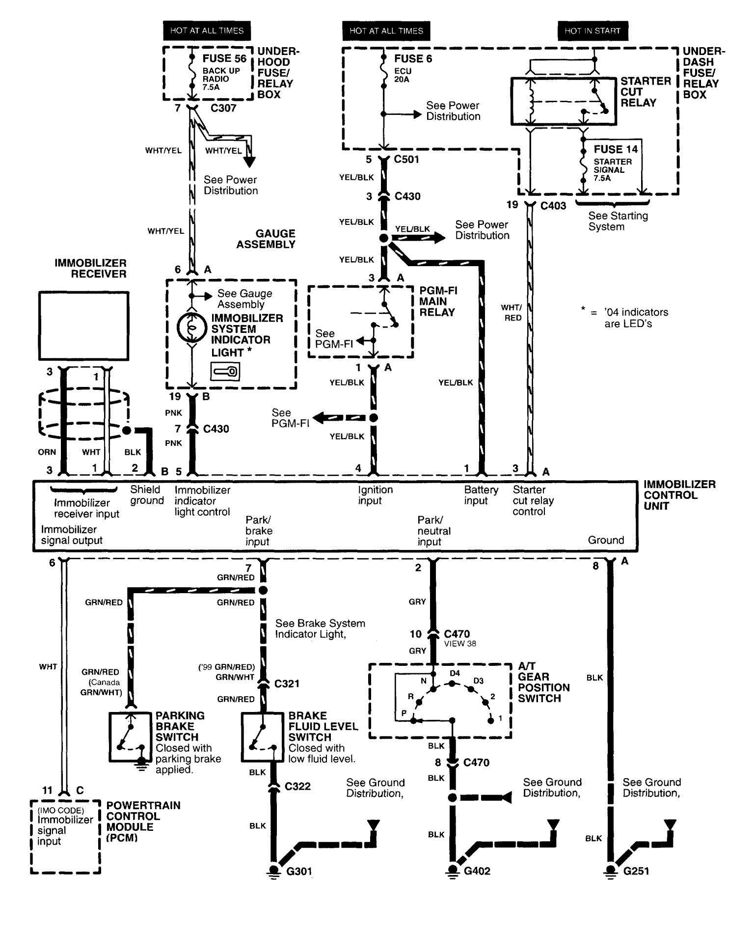 1997 Honda Civic Fuse Diagram