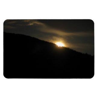 Super Moon over Washington Mountain Flexible Magnet
