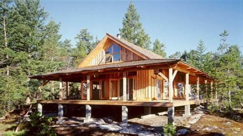 small cabin house plans  porches unique small house